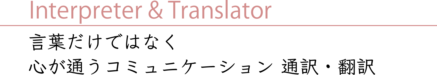 Interpreter & Translator